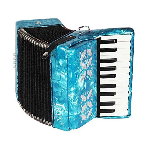 Akkordeon für Anfänger, 22 Tasten, 8 Bass, aus Ahorn (blau)
