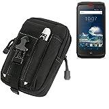 K-S-Trade® Gürtel Tasche Kompatibel Mit Crosscall Action-X3 Gürteltasche Holster Schutzhülle Handy Hülle Smartphone Outdoor Handyhülle Schwarz Zusatzfächer