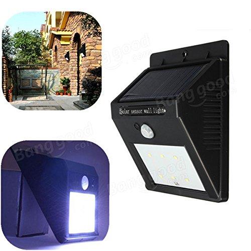 Bazaar Solar Power 6 LED PIR bewegingsmelder inductie licht waterdicht buiten lamp