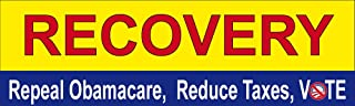 Recovery:Repeal Obamacare, Lower Taxes, VOTE; Bumper Sticker
