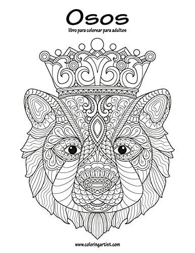 Osos libro para colorear para adultos 1