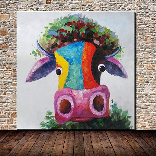 Pintura Al Óleo Pintada A Mano Sobre Lienzo, Sin Enmarcar Pinturas De Animales...