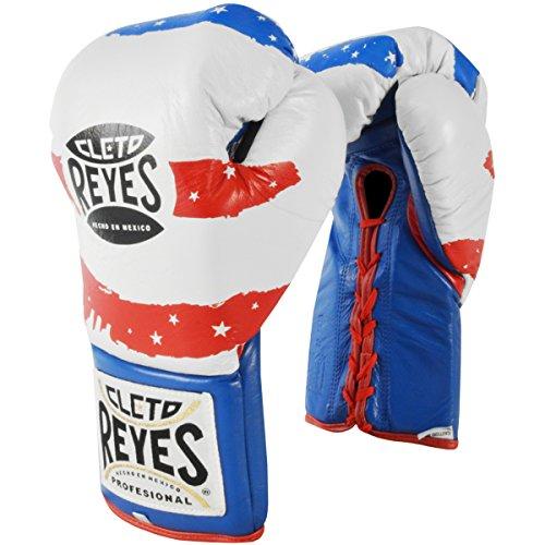 CLETO Reyes Offizielles Fight Boxhandschuhe–8–284g, Herren, rot / weiß / blau