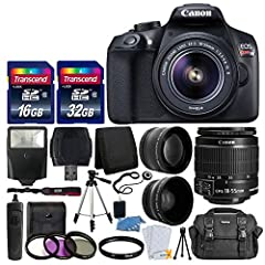 This Photo4Less Top Value Camera And Lens With USA Warranty and manufacturer's supplied Accessories Kit includes: Canon EOS Rebel T6 DSLR camera body -18-55mm EF-S f/3.5-5.6 is II lens - 58mm high definition wide angle lens & 58mm 2x professional tel...