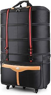 超大容量 防水キャリーバッグ 72Lから157Lまで4段階拡張 静音5輪キャスター サイドポケット ビジネスや海外旅行もこれ1つ 引っ越し/防災グッズ用バッグにも 100L/150L 高さ90cm超のトールサイズ キャリーケース 旅行かばん スーツケース