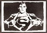 Poster Superman Handmade Graffiti Street Art - Artwork