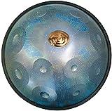 LLC- SUDA Tambor Handpan, Tambor - Estrellas de Instrumentos Series Tambor D Menor 11 Nota Tambor de Acero de 22 Pulgadas con Caja Suave Azul (Color : Blue)