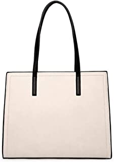 Trendy Ladies Fashion Large-capacity Handbag Retro Handbag Travel Leisure Tote Bag Zgywmz (Color : Beige, Size : 34 * 11 * 27.5cm)