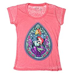 La Sirenita Ariel Vidriera Carcasa Niñas Top Juniors Camiseta