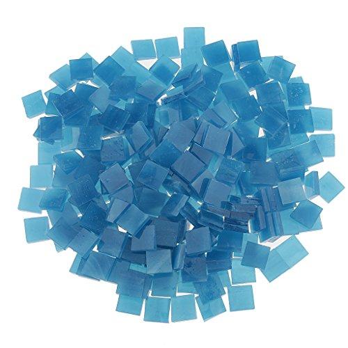 250g Bunte Gemischt Glas Mosaik Mosaiksteine Glasmosaik Glassteine - Blauer See