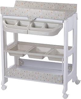 Safety 1st, Dolphy Table à langer et Baignoire 2 en 1 pour bébé, De la naissance à 12 mois (jusqu'à 11kg), Warm Grey
