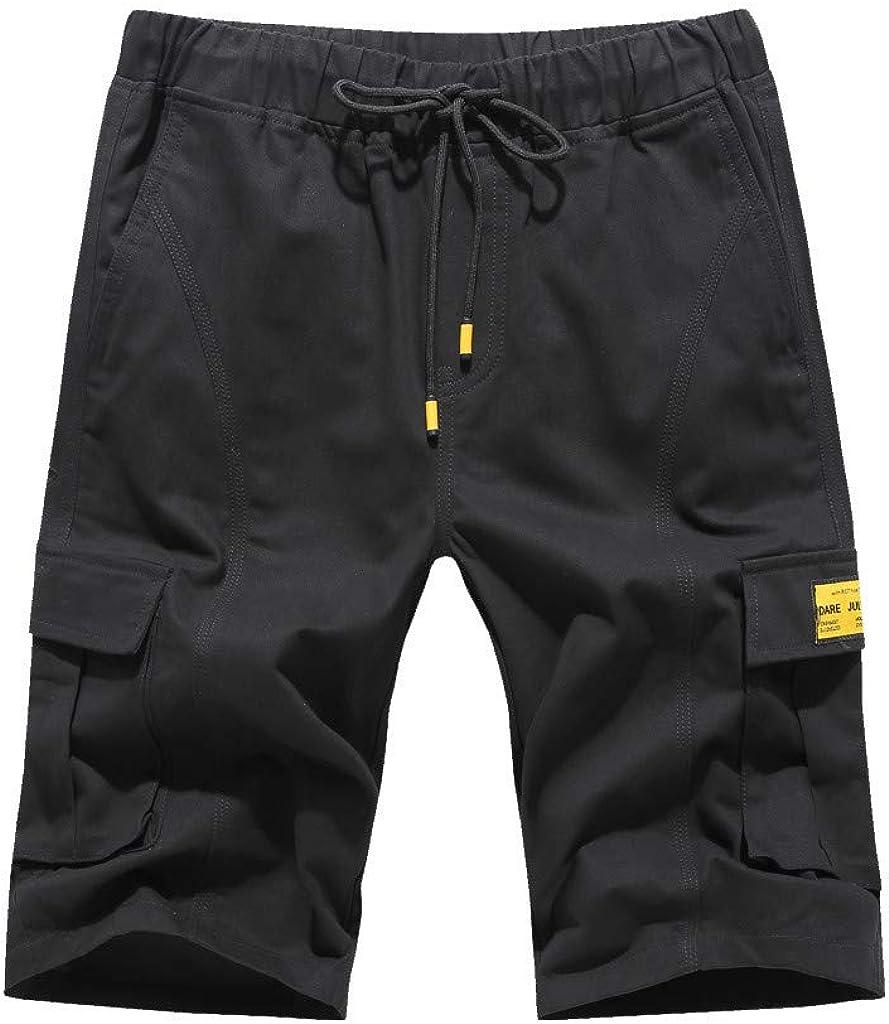Wind Overalls Shorts Fashion Men's Casual Pure Color Pocket Overalls