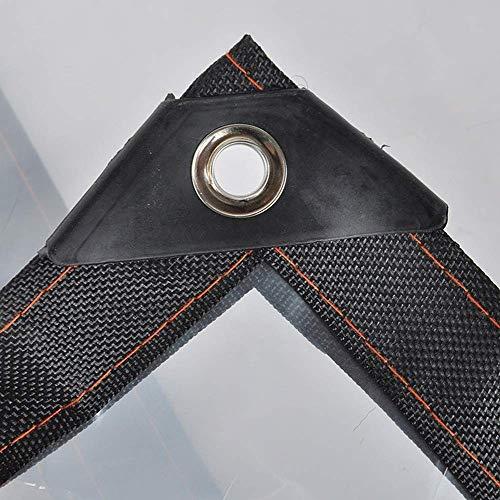 HCYTPL afdekzeil, transparant, dikte van de randen van kunststof, poreus, raamfolie, voor bloementeelt, balkon, met venster van stof - 120 g