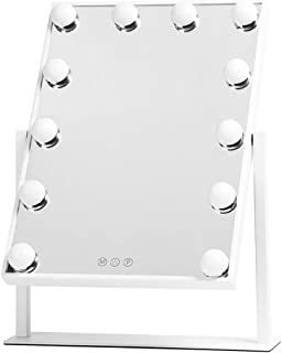 Showtime, Hollywood Makeup Vanity Mirror with Lights, Three-Tone Dimmer Design, 12