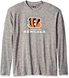 Zubaz NFL Cincinnati Bengals Male Long Sleeve Tee, Large, Gray