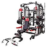 MiM USA Commercial Hercules 1001 Jumbo | Smith Machine & Functional Trainer | Power Cage | Leg Press | Dip Chin & Jammer Arms | Adj. Weight Bench W/Leg Extension | Full Set of Accessories