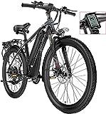 Bicicleta de carretera de la ciudad de cercanías, Bicicletas eléctricas for adultos, for hombre de bicicleta de montaña, 26' 48V 400W extraíble de iones de litio de bicicletas E-bici, ciclo al aire li