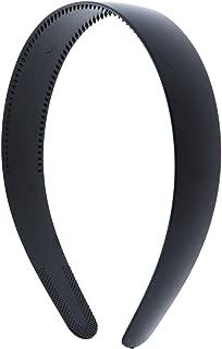 Black 1 Inch Plastic Hard Headband with Teeth Head band Women Girls (Motique Accessories)