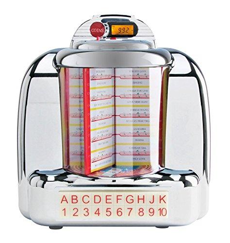 BEAT FOXX Nostalgia de mesa Jukebox (40/50años Diseño Retro, Bluetooth, USB,...
