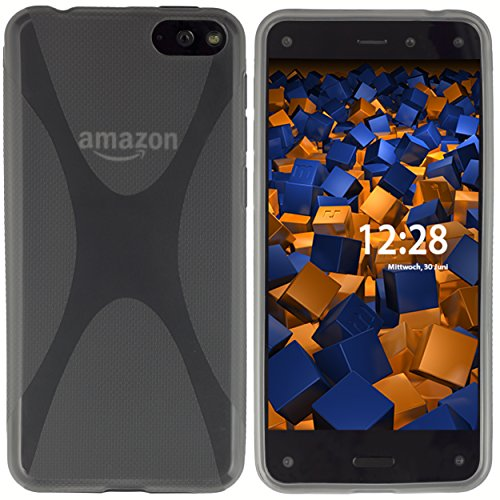 mumbi Hülle kompatibel mit Amazon Fire Phone Handy Hülle Handyhülle, transparent schwarz