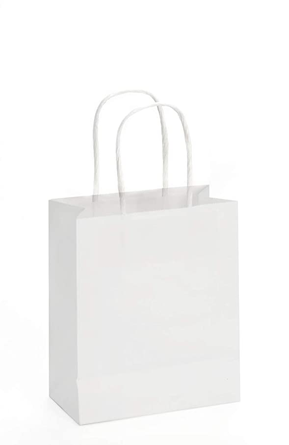 Paper Carrier Bag, Cord Handle, 15 x 18 cm, White