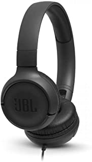 JBL JBLT500BLK Tune 500 Kulak Üstü Kulaklık, Siyah