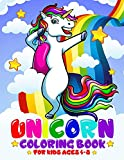Unicorn Coloring Book For Kids Ages 4-8: Rainbow, Mermaid Coloring Books For Kids Girls   Kids Coloring Book Gift