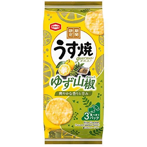 亀田製菓 うす焼ゆず山椒 75g×12袋