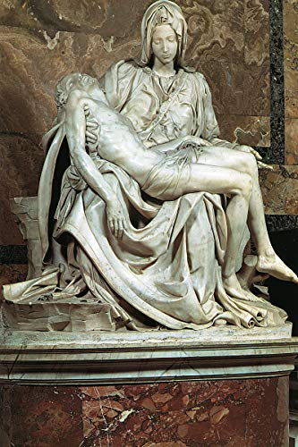 American Gift Services - Artist Painter Michelangelo Buonarroti Poster Print of Painting St. Peter's Pieta - 24x36