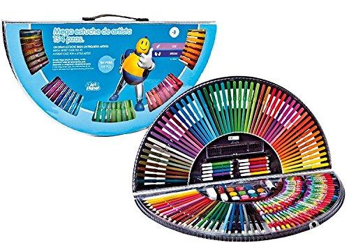 Estuche Arcoiris. Maletín para Colorear Que Incluye 154 Piezas para Colorear y Dibujar con Todo Tipo de Materiales: Pinturas, Ceras, rotuladores y más