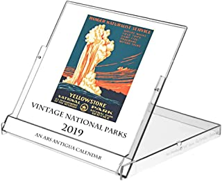 Ars Antigua 2019 Vintage National Parks Posters • CD-Style Desk Calendar (Jan. 1, 2019 - Dec 31, 2019)
