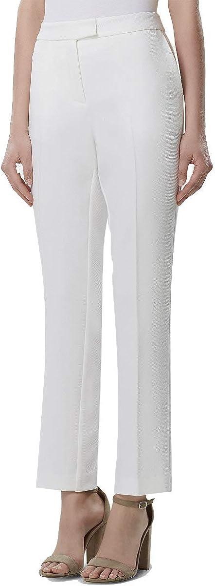 TAHARI Womens White Wear to Work Pants Size 18