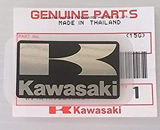 Kawasaki 56054-1435 - Genuine Original K ' Mark Sticker Decal Black/Silver 42MM X 24MM