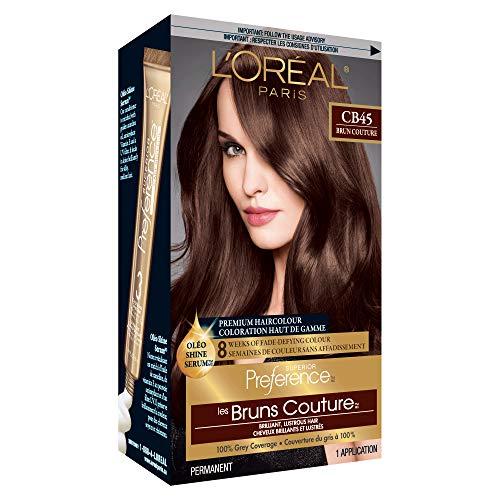 L'Oreal Paris Superior Preference Fade-Defying + Shine Permanent Hair Color, 4M Dark Mahogany Brown, Pack of 1, Hair Dye