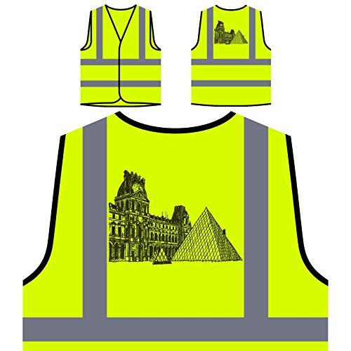 Museo del Louvre París Francia Viajar por el mundo Chaqueta de seguridad amarillo personalizado de alta visibilidad c503v