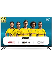 CHiQ U50H7L UHD 4K Smart TV, 50 Pouces (126 cm), HDR10 / hlg, WiFi, Bluetooth, Youtube, Netflix 5,1, Youtube Kids, 3 HDMI, 2 USB, Frameloos