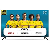 CHiQ Televisor Smart TV LED 50 Pulgadas 4K UHD, HDR 10/HLG, WiFi, Bluetooth, Youtube, Netflix, Prime Video, 3 x HDMI, 2 x USB - U50H7L