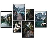 Premium Poster Set, 6 Bilder als stilvolle Wanddeko,