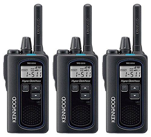 JVCケンウッド DEMITOSS デミトス TPZ-D510 ハイパワー デジタルトランシーバー 登録局対応 3台セット