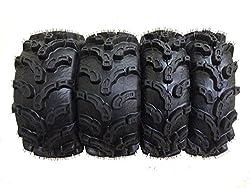 commercial Set of 4 new WANDA ATV / UTV premium tires 25×8-12 front and 25×10-12 rear / 6PR super rug mud atv mud tires