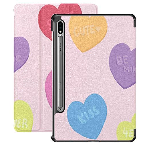 Funda para tablet Samsung Galaxy Tab S7/S7 Plus de 7 pulgadas con función atril y diseño de corazones