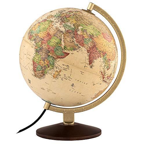 """Waypoint Geographic World Globe, Up-to-Date Globe, Illuminated Globe, Desktop Globe, 10"""" Diameter..."""