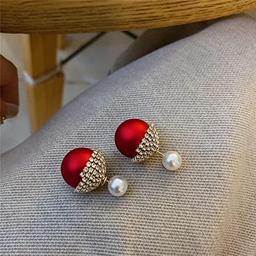 JIAQINGRNM Pendientes para Mujer Pendientes Cerezas Pendientes Rojos Pendientes Circonitas Regalo Ideal para Ella