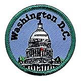 'WASHINGTON D.C.' - U. S. CAPITOL - UNITED STATES - IRON ON EMBROIDERED PATCH
