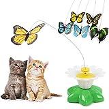AllRight Interaktiver Katzenspielzeug Schmetterling Beschaftigung Elektrisch Interaktiv Drehendem Teaser Spielzeug