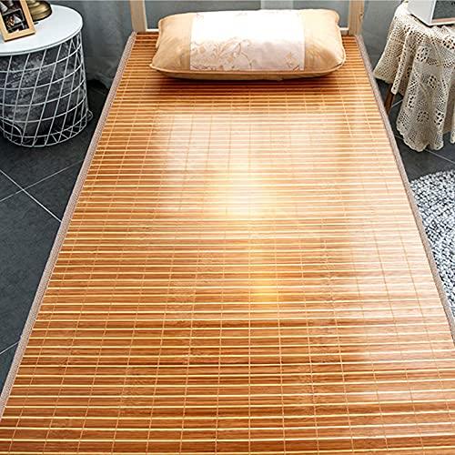 Natural Bambú Cama Esterilla,Estera de Dormir Fresco Verano, Antiadherente Alfombra de Bambú...