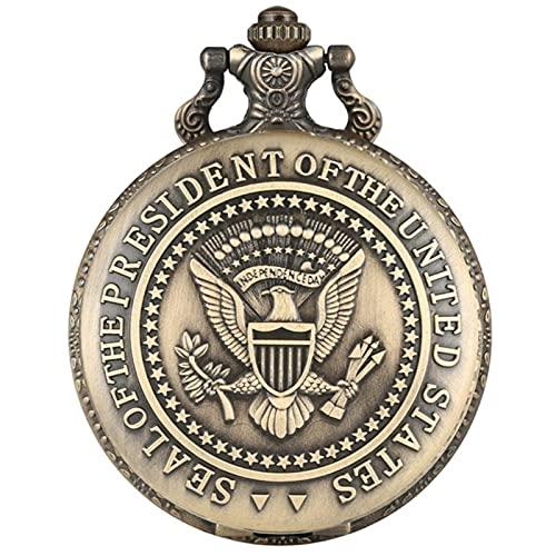 Sello del Presidente de la Casa Blanca de los Estados Unidos, Donald Trump, Colecciones de Arte de Relojes de Bolsillo de Cuarzo