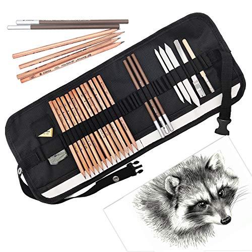 JJYHEHOT Zeichnen Set Bleistift, Farbverlauf 2H-8B, Machen Sie Ihre Bilder Lebendiger (24 Stück)