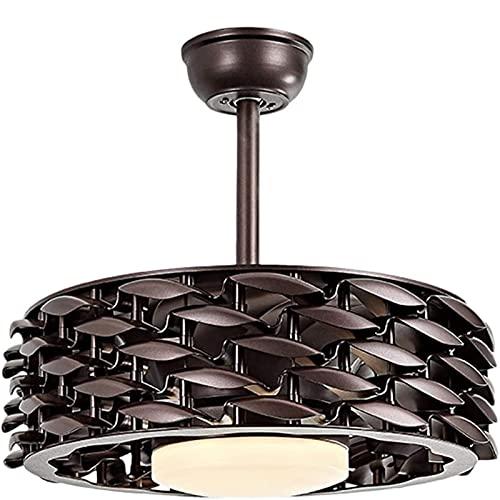 Ventilador De Techo Luz Ventilador De Techo Moderno Led Smart Atenuación Silenciosa Inversor De 55 Pulgadas Control Remoto Silencioso Velocidad Del Viento Ajustable Aspa Invisible Del Ventilador,3