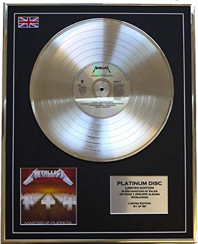 Everythingcollectible Metallica/Limitierte Edition Platin Schallplatte/Master of Puppets